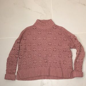 American Eagle Knit Turtleneck Sweater (cropped)